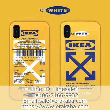 黄色 Off White x IKEA コラボ iPhoneケース